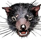 Face of the Tassie Devil by SnakeArtist