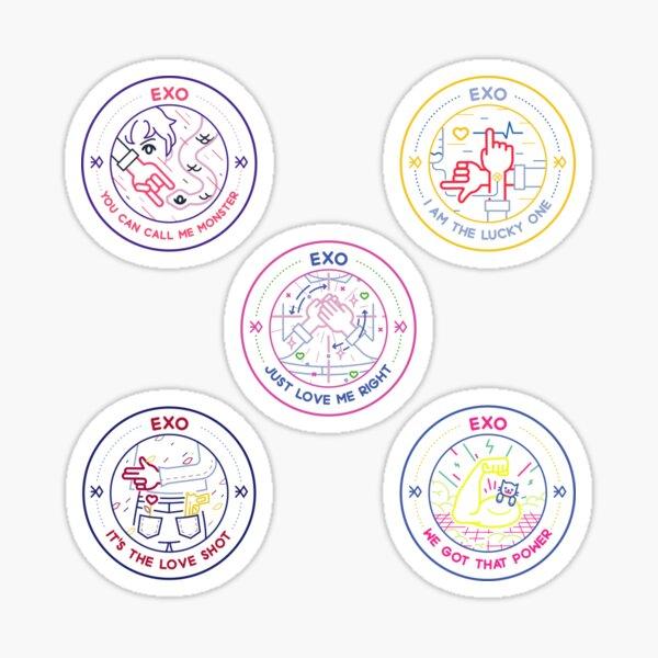 Badges de chansons Exo Sticker