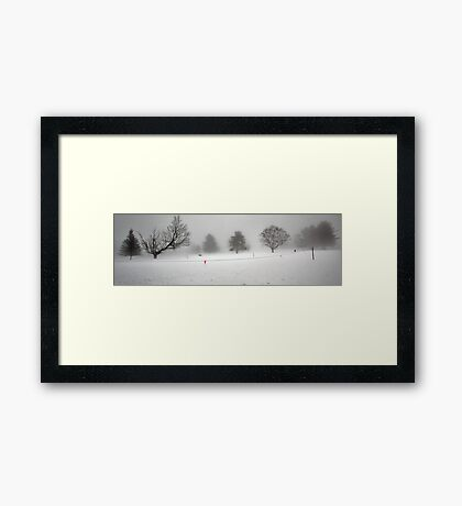 Trees In Snow and Fog - Bridgton Highlands Framed Print