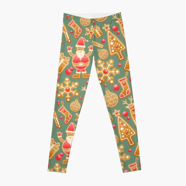 Fashion Star Girls Christmas Ginger Bread Reindeer Leggings