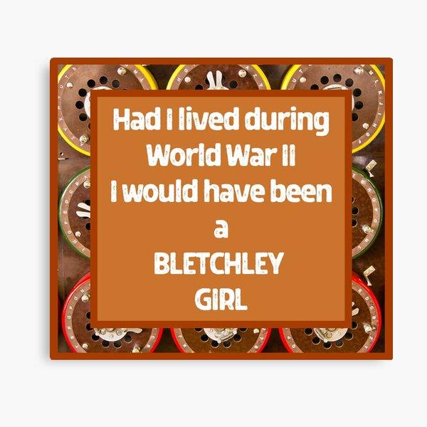 Bletchley Girl Design Canvas Print