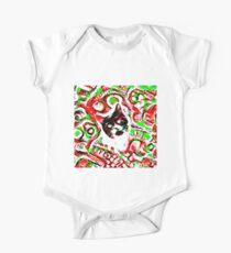 Gato Short Sleeve Baby One-Piece