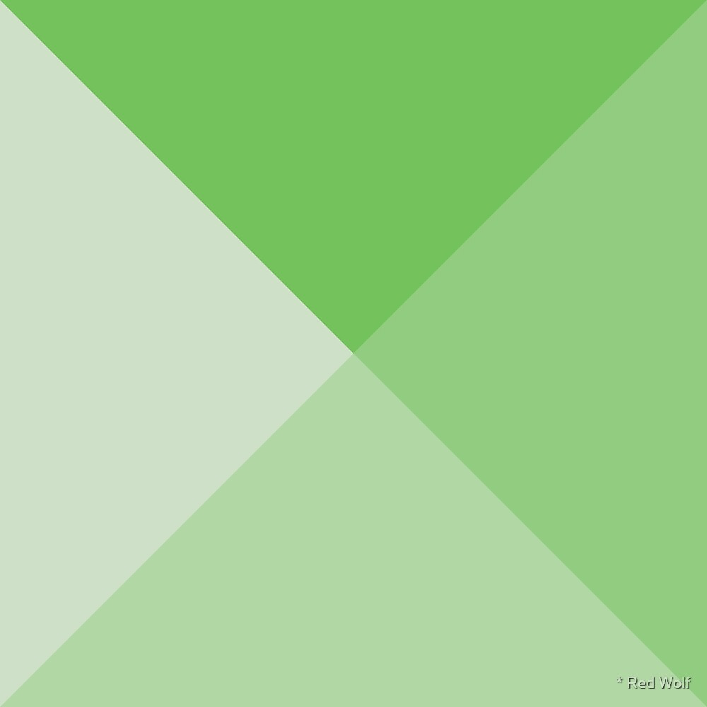 Geometric Pattern: Pyramid: Green Light by * Red Wolf