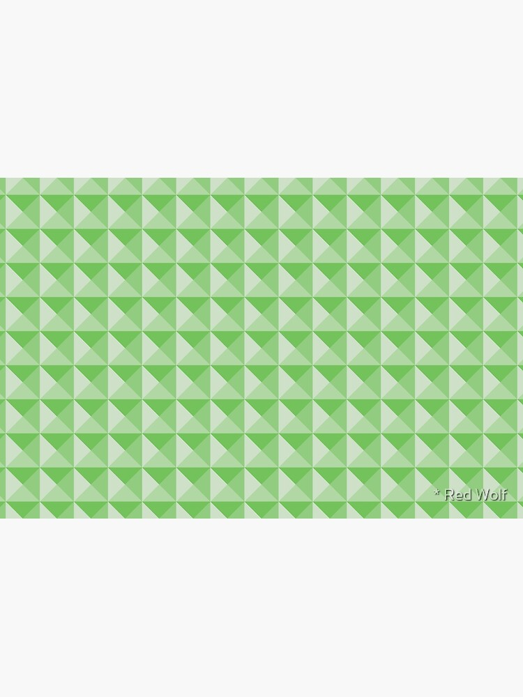 Geometric Pattern: Pyramid: Green Light by redwolfoz