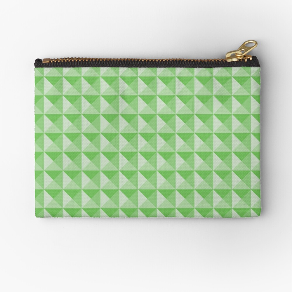 Geometric Pattern: Pyramid: Green Light Zipper Pouch