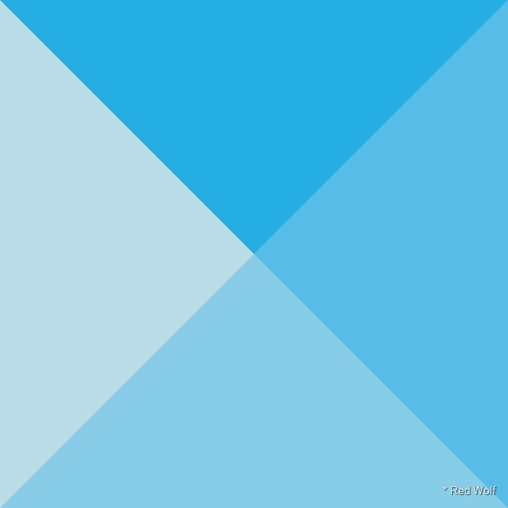 Geometric Pattern: Pyramid: Blue Light by * Red Wolf