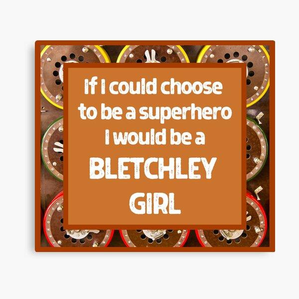 Superhero Bletchley Girl Design Canvas Print