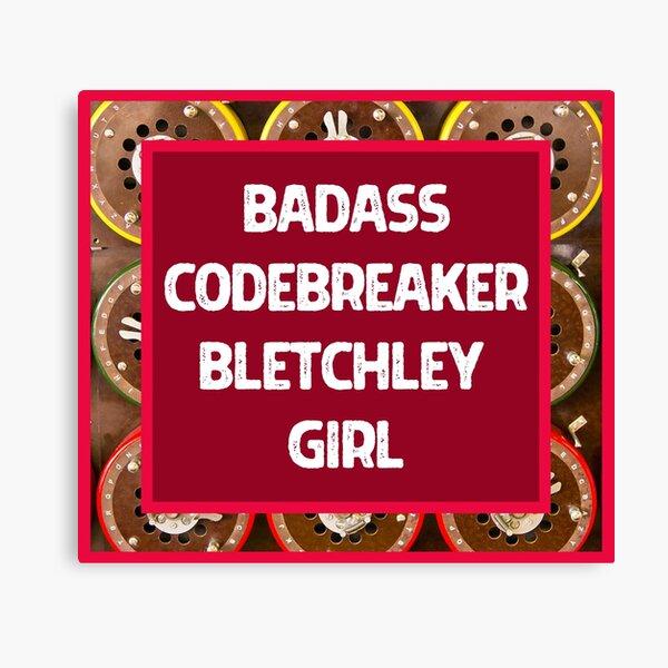 Badass Codebreaker Bletchley Girl Design, Red Edition Canvas Print