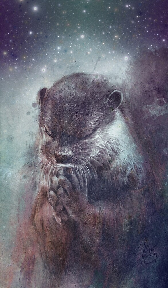 Holy Otter in space von Daniela  Illing