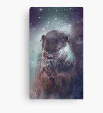 Holy Otter in space Leinwanddruck
