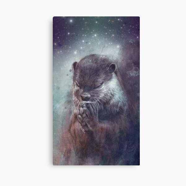Holy Otter Canvas Print
