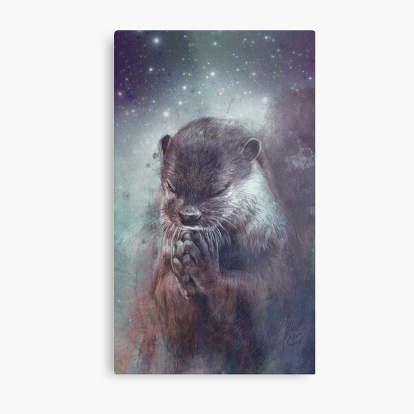 Holy Otter in space Metallbild