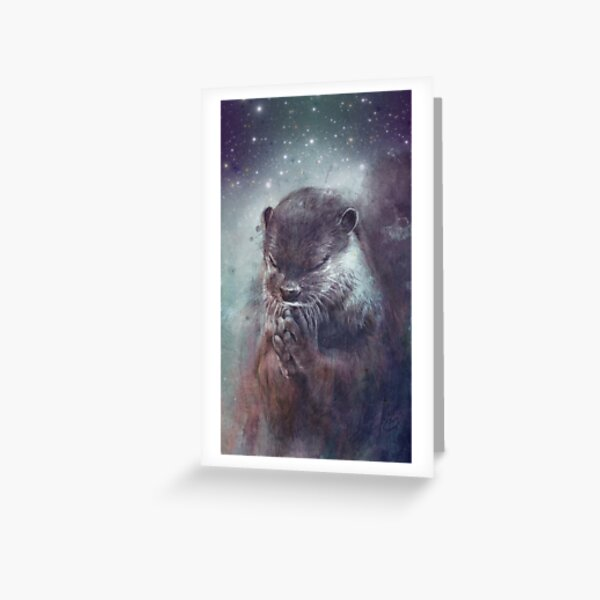 Holy Otter Greeting Card