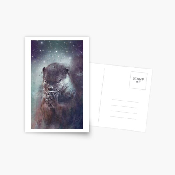 Holy Otter in space Postkarte