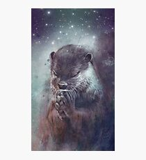 Holy Otter in space Fotodruck