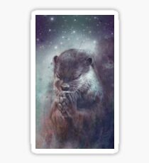 Holy Otter in space Sticker