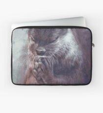 Meditierender Otter (farbig) Laptoptasche