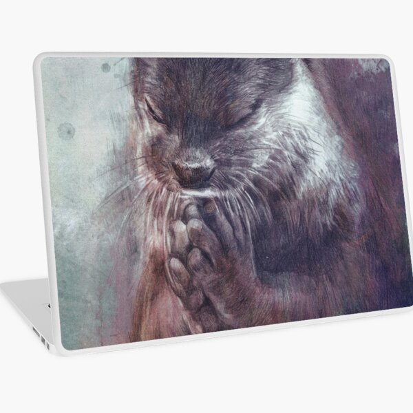 Meditating otter Laptop Skin