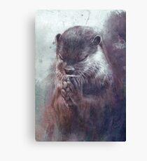 Meditierender Otter (farbig) Leinwanddruck