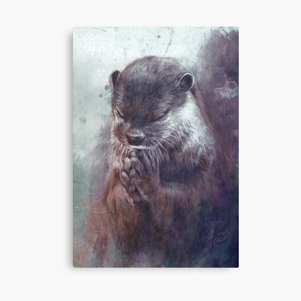 Meditating otter Canvas Print