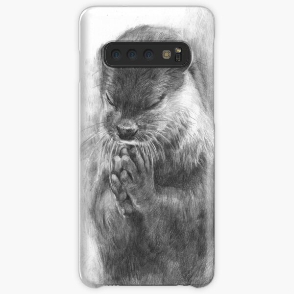 Meditating otter (black - and white) Samsung Galaxy Snap Case