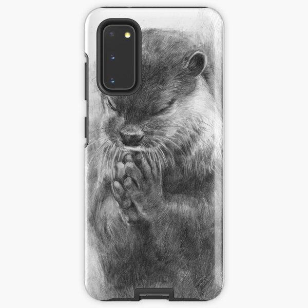 Meditierender Otter (schwarz-weiß) Samsung Galaxy Robuste Hülle
