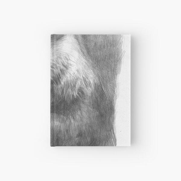 Meditating otter (black - and white) Hardcover Journal