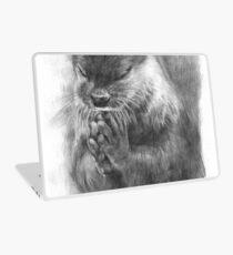 Meditierender Otter (schwarz-weiß) Laptop Folie
