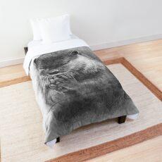 Meditierender Otter (schwarz-weiß) Tagesdecke