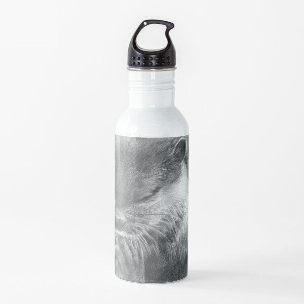 Meditating otter (black - and white) Water Bottle
