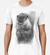 Meditierender Otter (schwarz-weiß) Premium T-Shirt