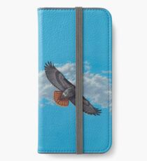 """""""Freedom on the Wing"""" Red tailed Hawk in Flight iPhone Wallet/Case/Skin"""