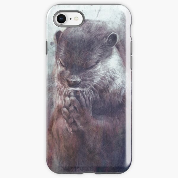 Meditierender Otter (farbig) iPhone Robuste Hülle
