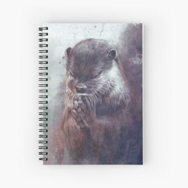 Meditating otter Spiral Notebook