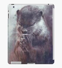 Meditierender Otter (farbig) iPad-Hülle & Klebefolie