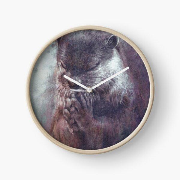 Meditating otter Clock