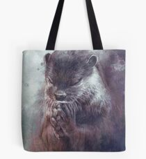 Meditierender Otter (farbig) Tote Bag