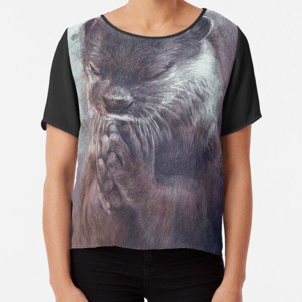 Meditierender Otter (farbig) Chiffon Top
