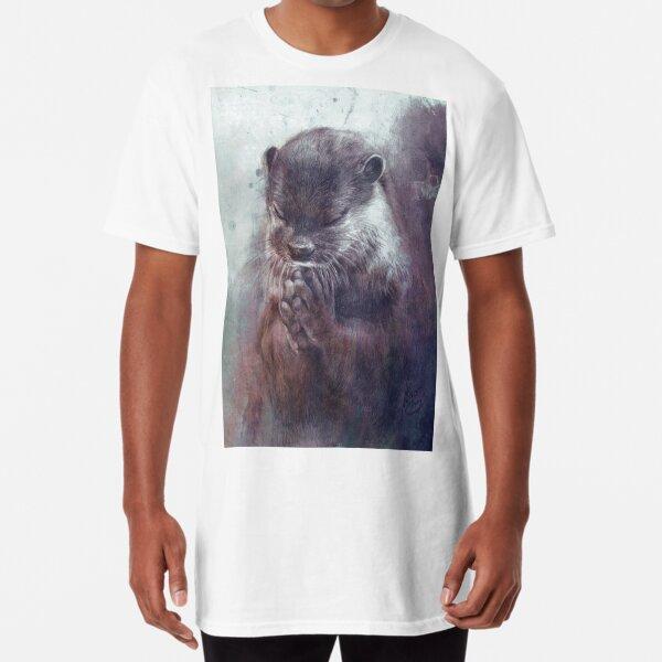 Meditating otter Long T-Shirt