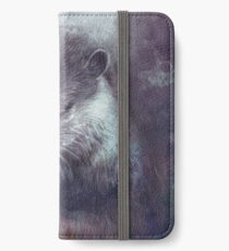 Holy Otter in space iPhone Flip-Case/Hülle/Klebefolie