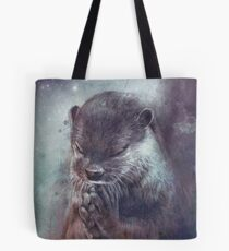 Holy Otter in space Tote Bag