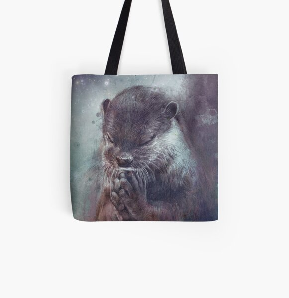 Holy Otter All Over Print Tote Bag