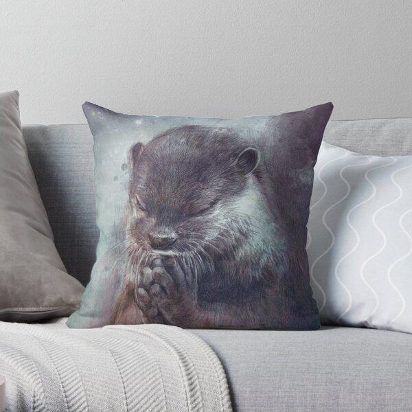 Holy Otter Throw Pillow