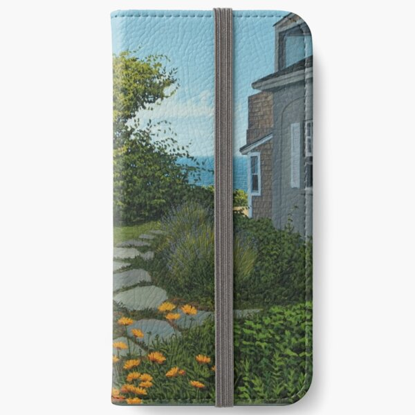 """""""The Cottage"""" oil painting by Reed A Prescott III iPhone Wallet"""