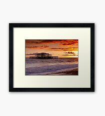 West Pier SunSet Framed Print