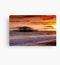 West Pier SunSet Canvas Print