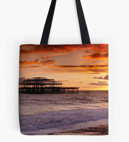 West Pier SunSet Tote Bag
