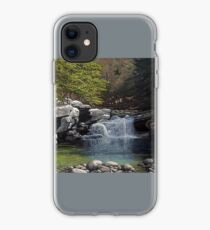 """Bartlett's Falls"" Bristol Vermont painting by Reed Prescott iPhone Case"