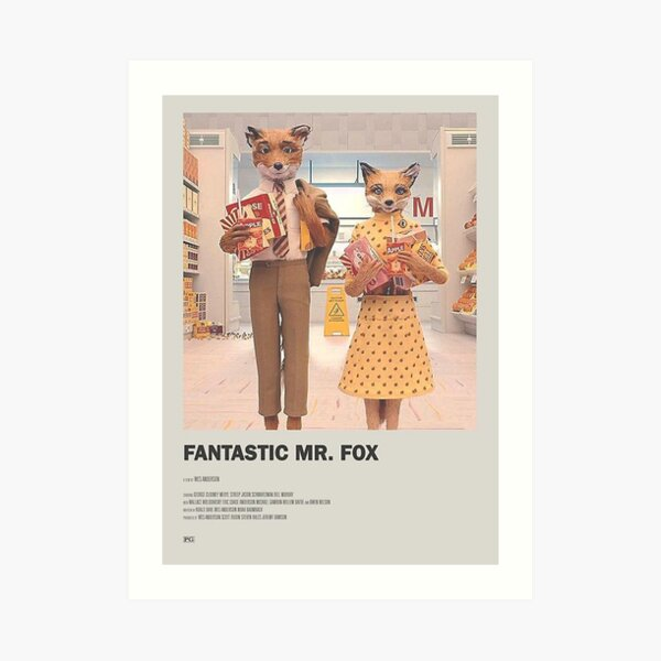 fantastic mr. fox movie -  Art Print