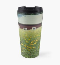 """""""Where's Mother"""" oil painting by Reed Prescott Travel Mug"""